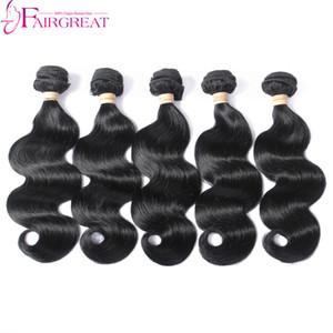 Echtes Echthaar der Menschen spinnt brasilianisches Haar-peruanisches indisches mongolisches Haar 5 PC-Bündel-Körper-Wellen-Haar-Erweiterungen keine Verwicklung