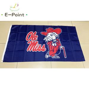 NCAA Ole Miss Rebels polyester Bayrak 3ft * 5ft (150 cm * 90 cm) Bayrak Afiş dekorasyon uçan ev bahçe açık hediyeler