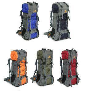 60L hombres grandes mujeres mochila para viajes escalada al aire libre bolsa de camping bolsa de montaña bolsa de montaña senderismo