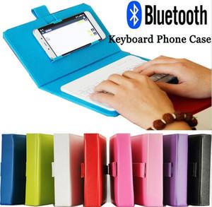 Bluetooth Funda de piel para el iPhone 6 6S teclado de teléfono con el teclado inalámbrico para Lenovo Samsung Huawei ZTE Xiaomi Sony HTC
