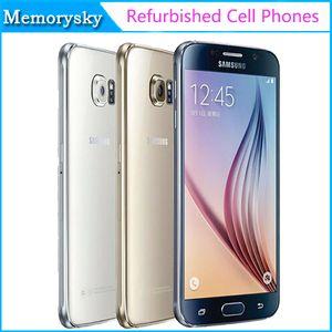 Reacondicionado Original Samsung Galaxy S6 G920A G920T G920P G920V G920F Teléfono celular desbloqueado Octa Core 3GB / 32GB 16MP 5.1 pulgadas 4G LTE