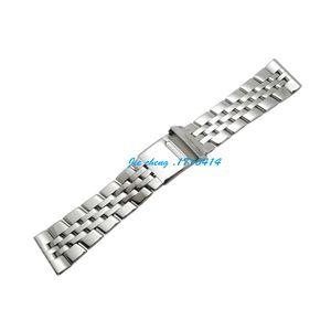 Jawerver pulseira de 22mm 24mm completa polido aço inoxidável watch band pulseira acessórios pulseira de prata adaptador para breitling supersechan
