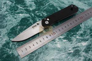 SOG DC-A1 Beste kosten leistung klappmesser 8Cr15Mov stonewash Klinge G10 griff camping / EDC / jagdmesser mit geschenkbox