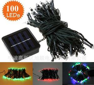 Comercio al por mayor 100LED Luces de Hadas de Energía Solar Cadena de Navidad Fiesta de Navidad Decoraciones de la boda 12 m led de luz solar 6 color
