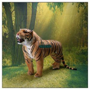 Dorimytrader Доминеринг реалистичный тигр Постоянный Тигр Фаршированные мягкие огромные эмуляционные животные Тигр Tiger Toy House Украшение 43 дюймов 110см DY60653