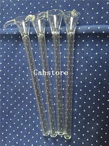 Style d'entonnoir de tige de verre avec poignée Tige mâle en verre, tige simple pour tuyau d'eau, bang