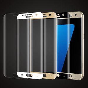Galaxy S7 Edge Screen Protector، HD Full Cover 0.3mm منحني الحافة إلى الحافة الزجاج المقسى المضادة للخدش ، فقاعة المضادة للبصمات