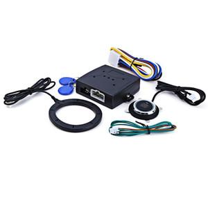 Yeni Araba Motoru Push Start Düğmesine RFID Kilidi Kontak Marş Anahtarsız giriş Çalıştırma Durdurma Immobilizer Alarm Sistemleri Sürüş Güvenlik