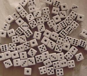 Dadi angolari quadrati a 6 lati extra piccoli Dado da 8 mm modello fai da te Modello Dice Puzzle Miniature 3D Accessori Buon prezzo # F6