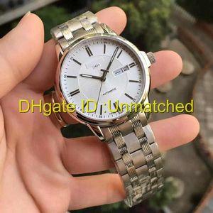 Высокое качество Hot Luxury Watch мужские из нержавеющей стали Dual Calendar Спорт Автоматические механические мужские часы 1853