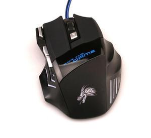Professionelle 5500 DPI Gaming Mouse 7 Tasten LED Optische USB Verdrahtete Mäuse für Pro Gamer Computer X3 Maus