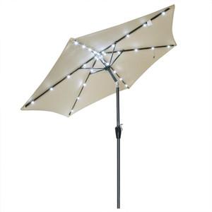 '알루미늄 옥외 안뜰 태양 LED 우산 갑판 시장 정원 양산 양산