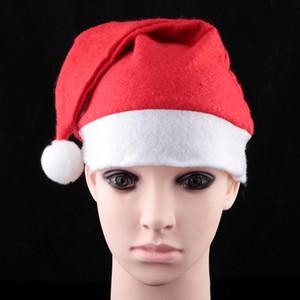 Noel şapka dekorasyon yetişkin kırmızı sıradan Noel kap Santa Claus şapka Noel şapkalar 19g fabrika fiyat