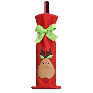 Al por mayor- JY 27 Mosunx negocios 2016 venta caliente tapa de la botella de vino bolsas decoración fiesta en casa Santa Claus Navidad
