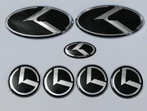 7PCS KIA 새 포르테 YD K3 2,014 2,015 / 자동차 엠블럼에 대한 새로운 블랙 K 로고 배지 엠블럼 / 3D 스티커