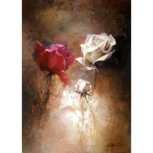Modern Impressionist art Flower di Willem Haenraets Dipinto ad olio su tela dipinto a mano di alta qualità