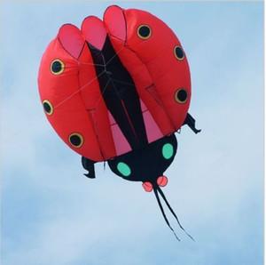 تفاصيل حول 3D Huge Soft Giant Ladybug Kite Outdoor Sports من السهل الطيران باللون الأحمر