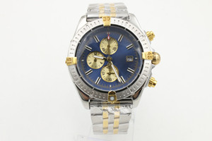 Special Edition Quartz Hommes Argent Boîtier cadran bleu bande inoxydable Avenger Super 1884 ii Horloge Montre Homme