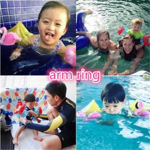 Nouveau bébé nager anneaux animaux kid bras anneau de bande dessinée gonflable flotteur enfants été flamingo crabe natation jouets kid390