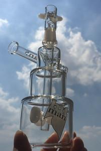 tuberías de agua Mini Dab plataformas de colores vidrio grueso Bong Hitman Pastel de cumpleaños de la plataforma petrolera de vapor concentrado Bong 14mm Joint 7,3 ''