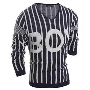 Maglioni degli uomini del maglione del pullover del progettista maschio del maglione del pullover degli uomini casuali del maglione del pullover della lettera del mens degli uomini all'ingrosso-classici 9019