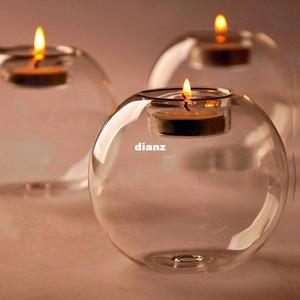 NO Candle Fashion Hot Classic Crystal Glass Candle Holder Wedding Bar Party Decoración del hogar Candelabro