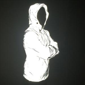 Toptan-Yeni 3 M Yansıtıcı Bombacı Ceket erkek Moda Kırlangıç Geri Fermuarlar Uzun Kollu Rüzgarlık Ceket
