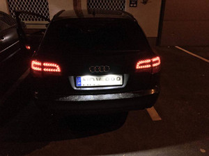 Luces de la placa del coche LED para Audi A6 c7 A1 A7 TT Volkswagen VW Golf 6 Passat B6 B7 Polo 4D Jetta MK6 Touran Touareg