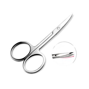 Wholesale-BIOAQUA Stainless Steel Scissors Eyebrow Trimmer Cosmetic  Tools Bending Tool Nose Hair Cut Eyelid Small Scissors