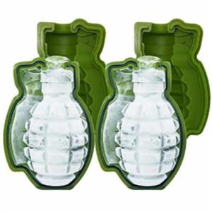 3D граната форма мороженого армия зеленый кубик льда формы творческой гранаты форма силиконовые формы торта лотки для мороженого плесень партии (7)