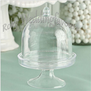 FREE SHIPPING 20PCS Acrylic Clear Mini Cake Stand Wedding Party Shower Baby Birthday Sweet Table Reception Decor Ideas Souvenirs Supplies