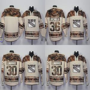 2016 New Style New York Rangers Hoodies Sweatshirts Männer Blank 30 Henrik Lundqvist 36 Mats Zuccarello Stickerei Logos Hockey Trikots