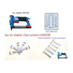 """1pc Air Stapler FS8016-B 5pcs Pistole per Air Nailer Gun 1/2 """"Fine Crown pinze pneumatiche 21GA Air Staple U Style Nail 6-16mm"""