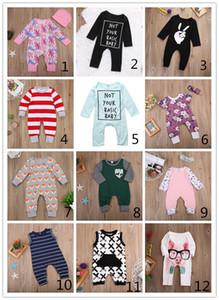 12 Estilo Baby Romper Otoño Ropa para niños Boutique Set Unisex Ropa de niño Ropa infantil Verano Otoño Bebé Navidad Pijamas Reno Flor