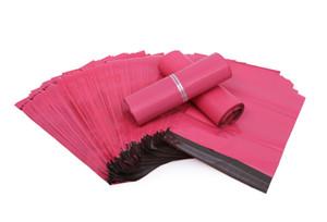 100pcs / lot 핑크 폴 리 메일러 10 * 13 인치 익스프레스 가방 25 * 35cm 메일 봉투 봉투 / 셀프 접착 인감 플라스틱 가방 파우치