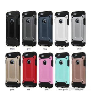 For Apple iphone 7 plus 6 6S Samsung Galaxy S8 edge plus S8+ S7 edge Steel armor TPU PC cell phone covers cases
