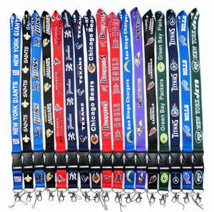 Venta caliente equipos de fútbol Lanyard ID Card Badge Holder desmontable llavero para la colección de regalos de Navidad envío gratis