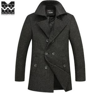 Fall-2015 winter  wool coat mens Long trench coat jacket plus size outerwear coats men dropship Wool & Blends