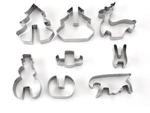 Home Garden Baking Mould Hot 8PCS / Set Taglierina di biscotto di Natale 3D in acciaio inox Bakeware 3D