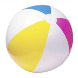 Verschiedene Farben aufblasbarer Plastikstrandball Pool-Spielzeug für Kind-Kind-Sommer im Freien Paly 61CM
