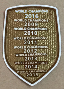 champions 2019 2017 2016 2015 2014 2013 2012 2011 2010 2009 rustine de football badges de patches d'impression, marquage à chaud de football Badges Patch