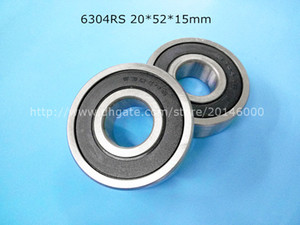 6304RS 1Piece free shipping 6304 6304RS 20*52*15mm chrome steel deep groove bearing