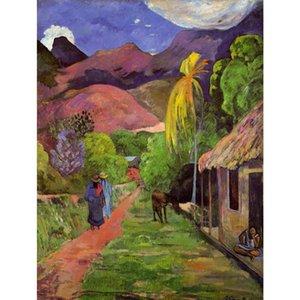 Paul Gauguin artwork воспроизведение дорога в Таити картина маслом холст высокое качество ручной работы декор стен