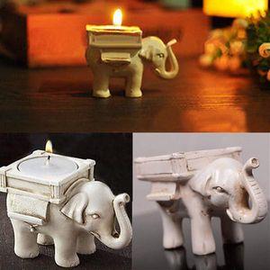 Casamento romântico criativo Favors presentes de aniversário de casamento Titular Lucky Elephant Tea luz de velas com 10pcs tealight / lot