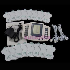 16 Pads Electrical Stimulator Full Body Relax Muscle Terapia Massageador Massagem dezenas de pulso Acupuntura Saúde emagrecimento máquina