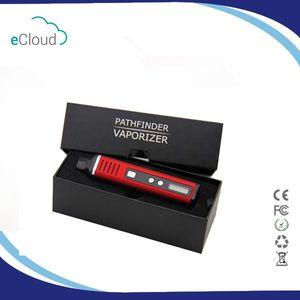 Otantik Pathfinder II 2 Bitkisel Buharlaştırıcı Kiti 2200 mAh Pil Sıcaklık Kontrolü TC Modu LCD Ekran balmumu kuru ot atomizer Vape kalem sigara DHL