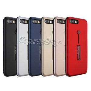 Casos de telefone móvel para apple iphone 8 7 case tpu + pc anel titular kickstand escondido phone case para galaxy s8 s7 edge cobrir