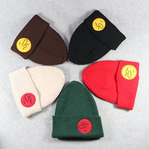 2017 new Korean version of the long nose children's wool hat boys and girls knitted hat warm thickening stickers