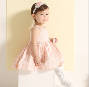 Infant Toddler Baby Girl Tulle Bowknot Fur Ball Lace Headband Baby Pretty Headwear New Born Photography Hair Accessories K7553