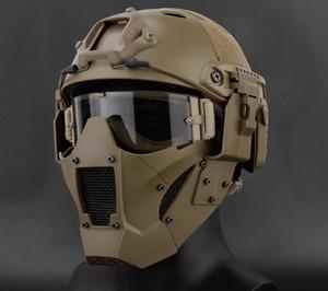 장난감 총 AR15 전술 페인트 볼 액세서리 사냥 보호 남성 반 얼굴 제이 빠른 마스크 AF 헬멧 사냥